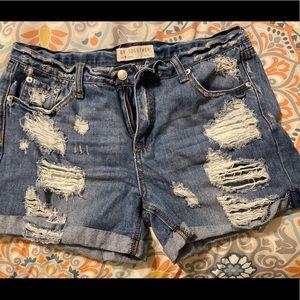 Vici Shorts - VICI distressed shorts